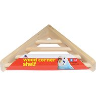 Prevue Pet Products Wood Corner Bird Cage Shelf, 7-in