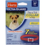 Hartz UltraGuard Flea & Tick Collar for Dogs, Red, 1-count