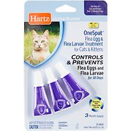 Hartz UltraGuard OneSpot Flea Treatment for Cats & Kittens, 3 treatments