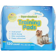 All-Absorb Small Super Absorbent Training Pads, 17.5 x 23.5 in, 120 count