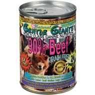 Gentle Giants Canine Nutrition 90% Beef Grain-Free Canned Dog Food, 13-oz, case of 12