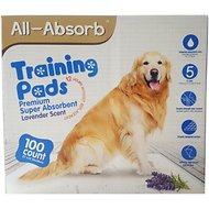 "All-Absorb Lavender Scented Training Pads, 22"" x 23"", 100 count"