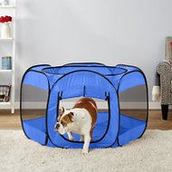 OxGord Portable Pet Playpen, Blue