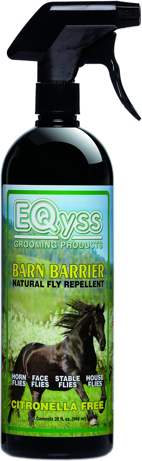 EQyss Grooming Products Barn Barrier Natural Fly Repellent for Horses,  32-oz bottle