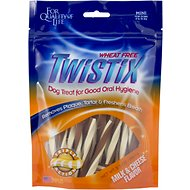 N-Bone Twistix Milk & Cheese Flavor Dog Treats, Mini