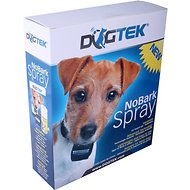 Dogtek NoBark Citronella Spray Dog Collar, Black