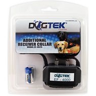 Dogtek Additional Receiver Collar for Electronic Dog Fence, Black
