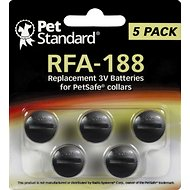 Pet Standard RFA-188 Replacement 3V Batteries for PetSafe Collars, 5 pack