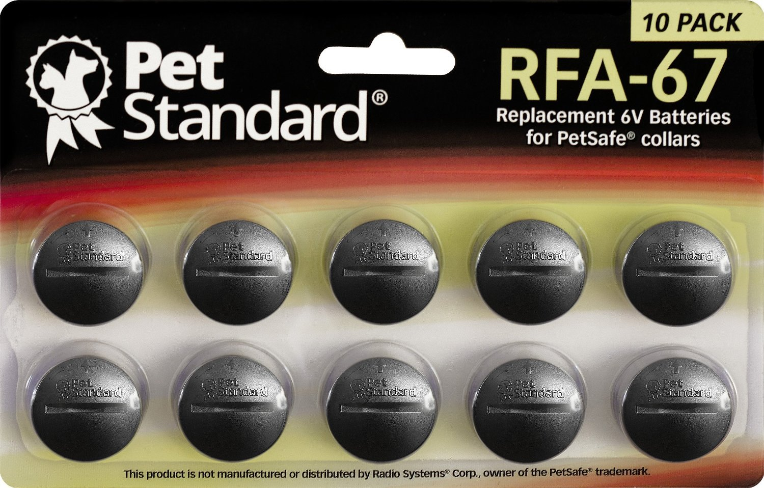 Pet Standard Rfa 67 Replacement 6v Batteries For Petsafe Collars 10 Pack Chewy
