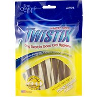 N-Bone Twistix Yogurt Banana Flavor Dog Treats, Large