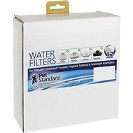 Pet Standard Premium Charcoal Water Filters for PetSafe Drinkwell Avalon & Pagoda Fountains, 12 pack