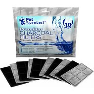 Pet Standard Premium Charcoal Filters for PetSafe Drinkwell Fountains, 10 pack