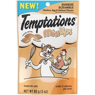 Temptations Mixups Sunrise Scrambled Chicken, Egg & Salmon Flavors Cat Treats, 3-oz bag