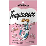 Temptations Shrimpy Shrimp Flavor Cat Treats, 3-oz bag
