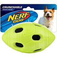Nerf Dog Crunchable Football Dog Toy, Medium