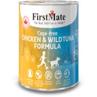 FirstMate 50/50 Chicken & Tuna Formula Grain-Free Canned Dog Food, 12.2-oz, case of 12