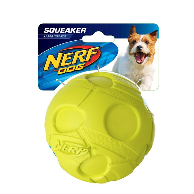 Large Dog Toys Balls : Nerf dog squeaker ball toy large chewy