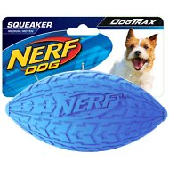 Nerf Dog Squeaker Tire Football Dog Toy, Medium