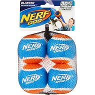 Nerf Dog Tennis Ball Blaster Replacement Tennis Balls, 4 Pack