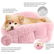 Best Friends by Sheri OrthoComfort Deep Dish Cuddler Pet Bed, Pink
