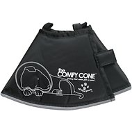 Comfy Cone E-Collar for Dogs & Cats, Black, Small