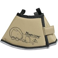 Comfy Cone Collar for Dogs & Cats, Tan, X-Small