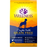 Wellness Grain-Free Complete Health Large Breed Adult Deboned Chicken & Chicken Meal Recipe Dry Dog Food, 24-lb bag