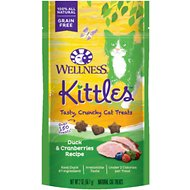 Wellness Kittles Grain-Free Duck & Cranberries Recipe Crunchy Cat Treats