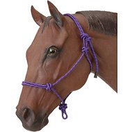 Tough-1 Poly Rope Tied Horse Halter, Purple
