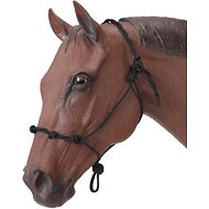 Tough-1 Knotted Rope and Twisted Crown Training Horse Halter, Black
