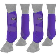 Tough-1 Extreme Vented Horse Sport Boots Set, Purple, Small
