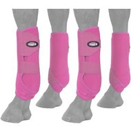 Tough-1 Extreme Vented Horse Sport Boots Set, Pink, Small