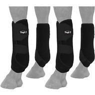Tough-1 Extreme Vented Horse Sport Boots Set, Black, Medium