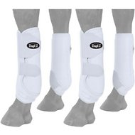 Tough-1 Extreme Vented Horse Sport Boots Set, White, Medium