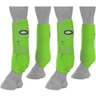 Tough-1 Extreme Vented Horse Sport Boots Set, Neon Green, Small