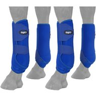 Tough-1 Extreme Vented Horse Sport Boots Set, Royal Blue, Medium