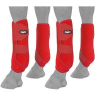 Tough-1 Extreme Vented Horse Sport Boots Set, Red, Small