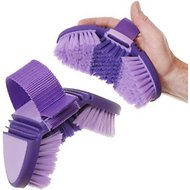 Tough-1 Great Grips Flex Finishing Horse Brush, Purple