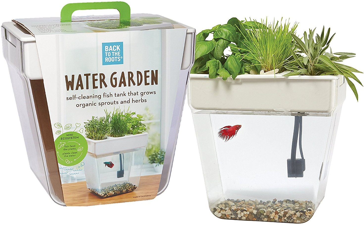 Back to the roots water garden fish tank 3 gal for Water garden fish tank