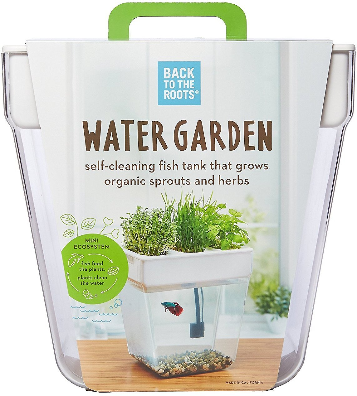Back To The Roots Water Garden Fish Tank 3 Gallon