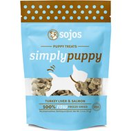 Sojos Simply Turkey Liver & Salmon Puppy Freeze-Dried Dog Treats, 2.5-oz bag