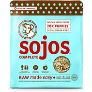 Sojos Complete Turkey & Salmon Recipe for Puppies Freeze-Dried Dog Food, 1-lb bag