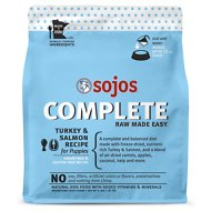 Sojos Complete Turkey & Salmon Recipe for Puppies Grain-Free Freeze-Dried Dog Food, 4-lb bag