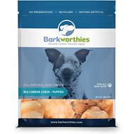 Barkworthies Puffed Big Cheese Chew Dog Treats, 5-oz bag