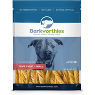 Barkworthies Small Tripe Twist Dog Treats, 4-oz bag