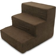 Best Pet Supplies Foam Pet Stairs, Dark Brown, 3-Step