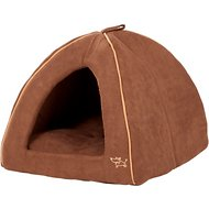 Best Pet Supplies Modern Triangular Tent Bed, Dark Brown, Large