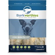 Barkworthies Cod Skin Fillet Dog Treats, 4-oz bag