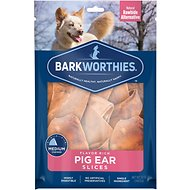 Barkworthies Pig Ear Slice Dog Treats, 12-oz bag