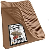 iPrimio Cat Litter Trapper EZ Clean Mat, Brown/Tan, Jumbo